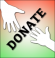 Donate Button Hands Fin